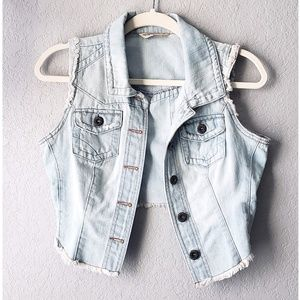💥5 for $25 - Jean Vest